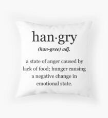 Hangry Throw Pillow