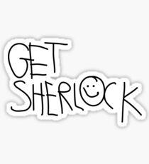 Get Sherlock (black) Sticker