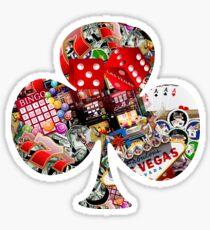Club - Las Vegas Playing Card Shape  Sticker