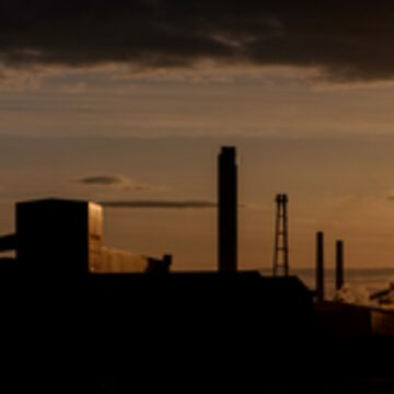 Sun Setting on Redcar Steel Works by dormouse1976