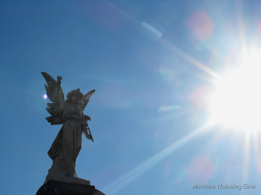 Angel in the light by Matthew Walmsley-Sims