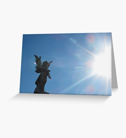 Angel in the light Greeting Card