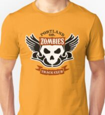 Portland Zombies Track Club Crest (light) Unisex T-Shirt