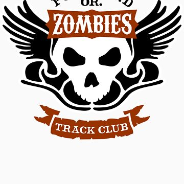 Portland Zombies Track Club Crest (light) by RobDeBorde