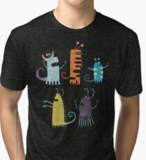 Secretly Vegetarian Monsters Tri-blend T-Shirt