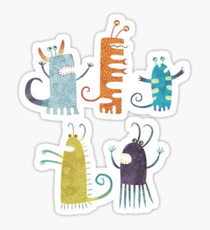 Secretly Vegetarian Monsters Sticker