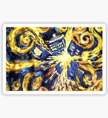 Exploding TARDIS Painting by Van Gogh Sticker