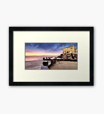 Coogee Baths Sunrise Framed Print