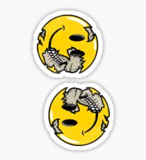 Smiley face skull Sticker