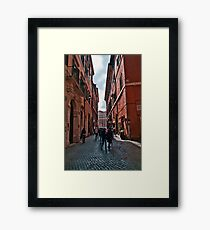 ROME - STREETSCAPE (1)  Framed Print