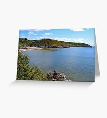 Caswell Bay, Gower Peninsula Greeting Card