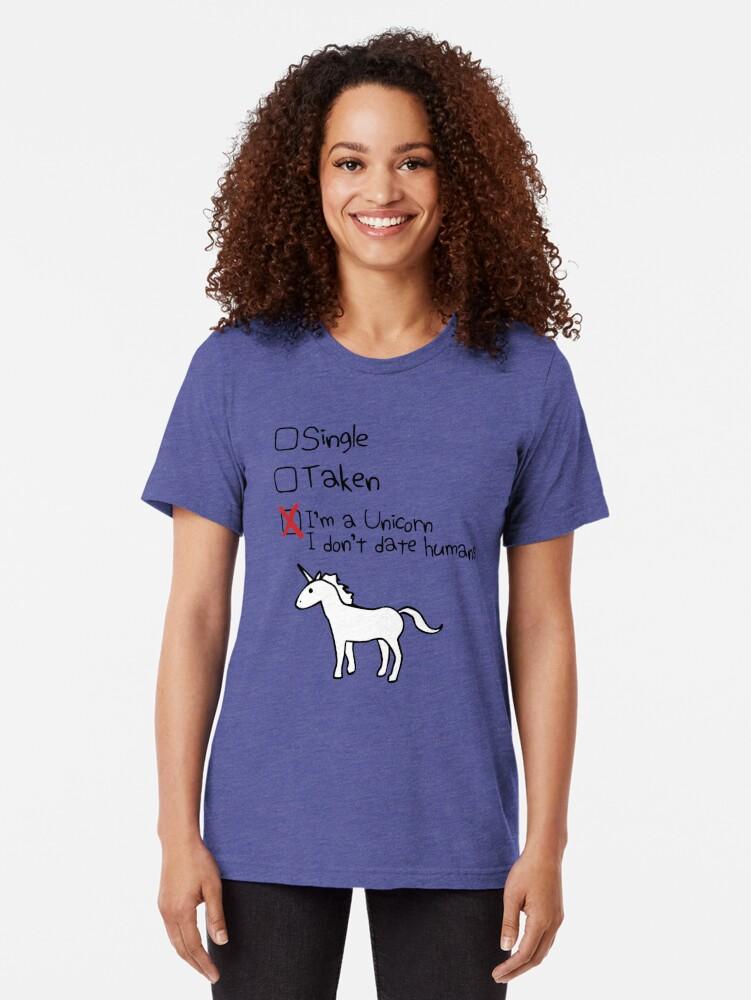 Alternative Ansicht von Ich bin ein Einhorn, ich gehe nicht mit Menschen Vintage T-Shirt