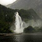 Lady Bowen Falls, Milford Sound by Michael Treloar