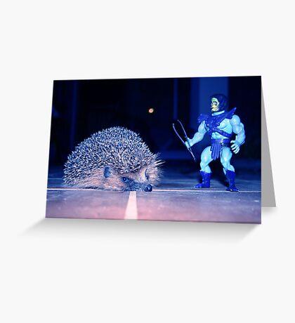 Skeletor & hedgehog Greeting Card