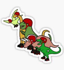 Roller Derby Dinosaurs Sticker