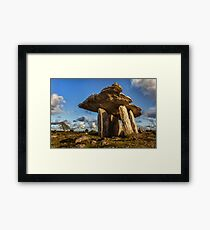 Poulnabrone dolmen the Burren, County Clare, Ireland. Framed Print