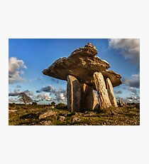 Poulnabrone dolmen the Burren, County Clare, Ireland. Photographic Print