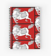 Dynasty Horse on Red Spiral Notebook