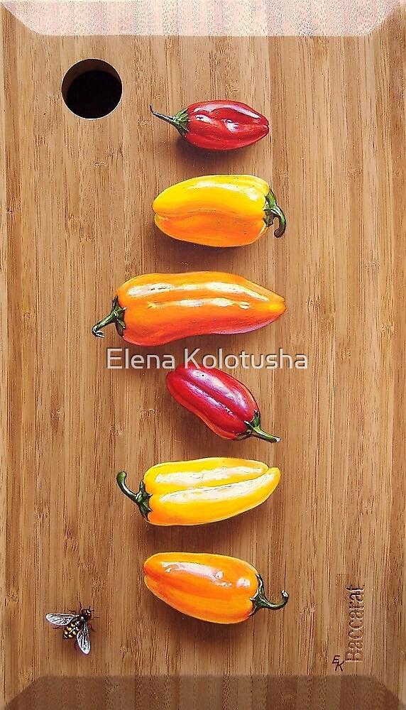 """Peppers"" by Elena Kolotusha"