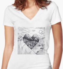 Wild At Heart Women's Fitted V-Neck T-Shirt