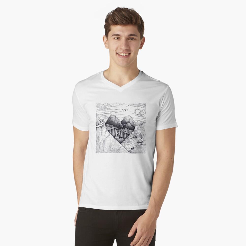 Wild At Heart Mens V-Neck T-Shirt Front