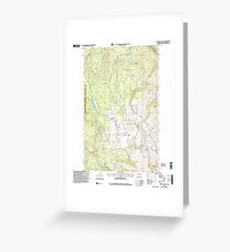 USGS Topo Map Washington State WA Chiliwist Valley 240489 2001 24000 Greeting Card