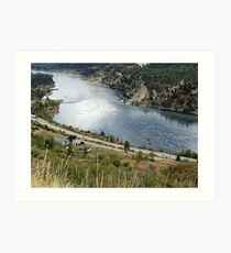 Columbia River at Trail Art Print