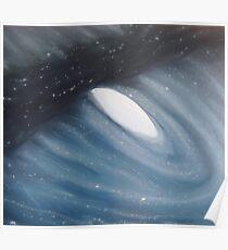 Galaxy  Collision - Andromeda Poster