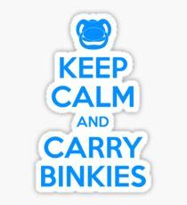 Keep Calm and Carry Binkies Blue Sticker