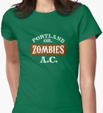 Portland Zombies Athletic Club (dark) Women's Fitted T-Shirt