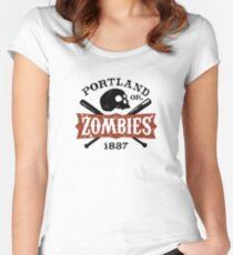 Portland Zombies Deadball Crest Women's Fitted Scoop T-Shirt