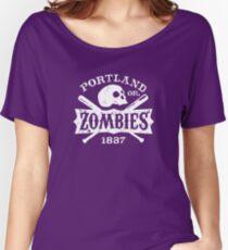 Portland Zombies Deadball Crest White Women's Relaxed Fit T-Shirt