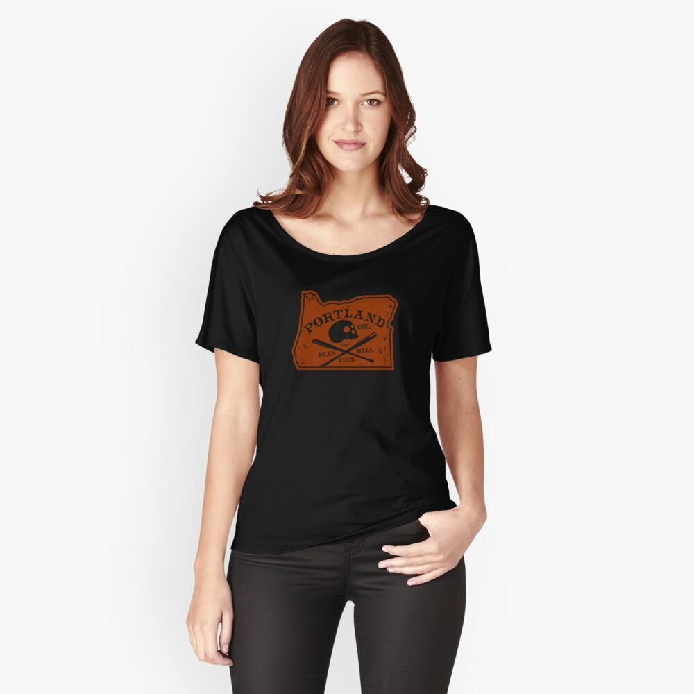 Portland Deadball Oregon Logo Women's Relaxed Fit T-Shirt Front