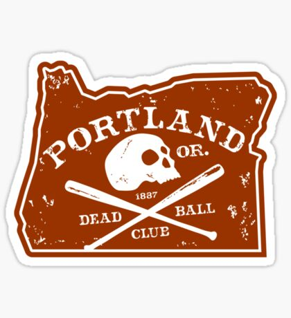 Portland Deadball Oregon Logo Sticker