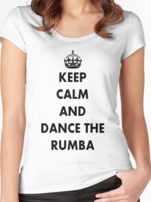 Keep Calm and Dance the Rumba Women's Fitted Scoop T-Shirt