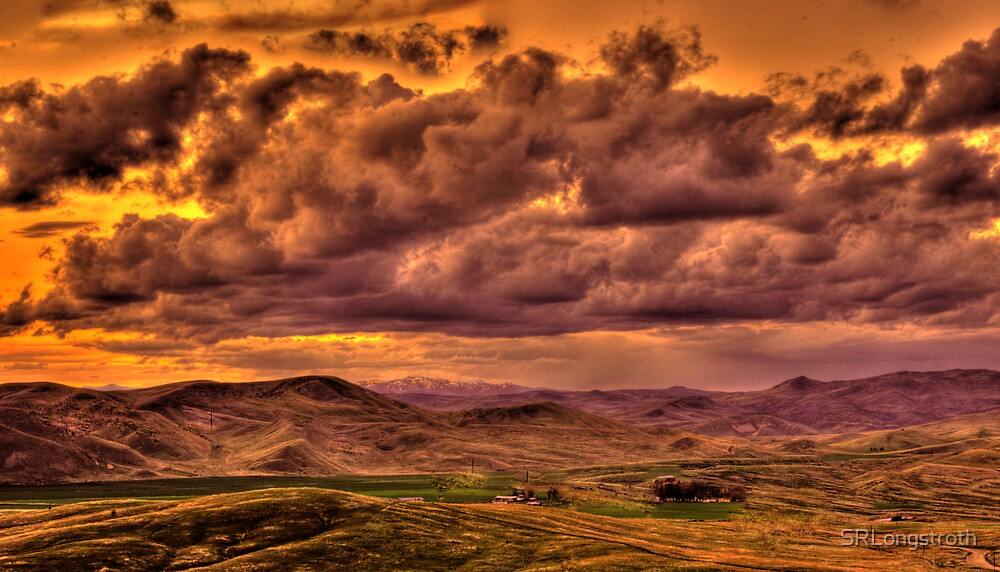 Storm Over an Idaho Ranch by SRLongstroth