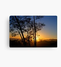 Sunset over Hollywood Canvas Print