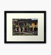 Buildings of Hoi An, Vietnam Framed Print