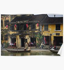Buildings of Hoi An, Vietnam Poster