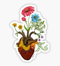 Harvest Peace, Grow Love - Bee Here Now Yoga Art Sticker