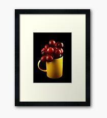 Mug with Grapes Framed Print