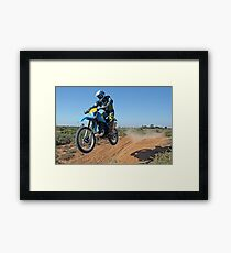 Motorbike Action Framed Print