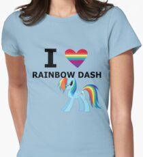 I Heart Rainbow Dash Women's Fitted T-Shirt