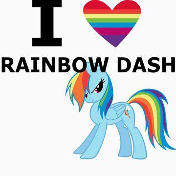 I Heart Rainbow Dash by mikeAguy1