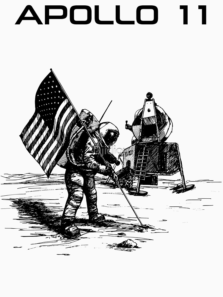 Apollo 11 - Black ink by Djidiouf