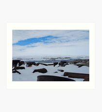 Antarctic Rubbish Art Print
