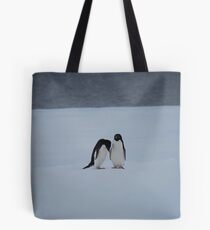 Antarctic Penguin Pair Tote Bag