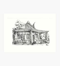 Whistle Stop cafe .......drawing  from Juliette GA Art Print