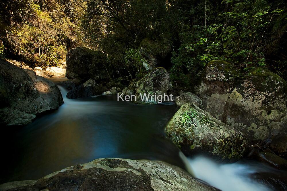 Kaiate lower pools by Ken Wright