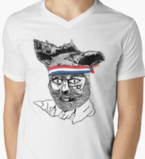 Crack Fox Men's V-Neck T-Shirt